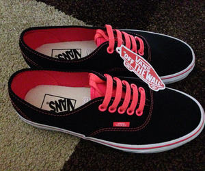 black, vans, and pink image