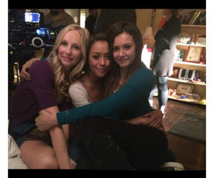 Nina Dobrev, candice accola, and tvd image