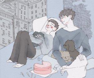kyungsoo and chanyeol image