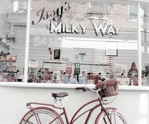 aesthetic, bike, and milk image