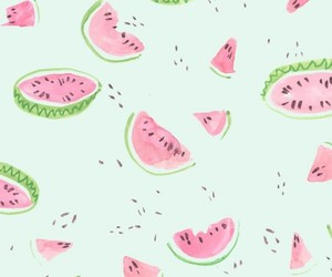 watermelon, background, and pink image