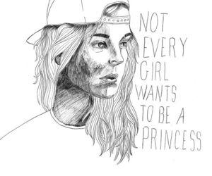 girl, princess, and feminism image