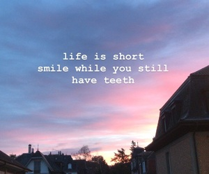 funny, pink sky, and quote image
