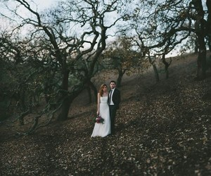 bride, forest, and dark image