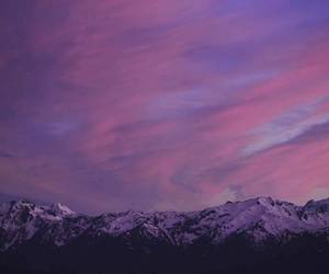 landscape, mountains, and purple image