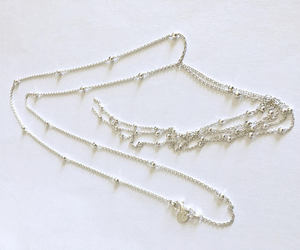 chain necklace, sterling silver, and lariat necklace image
