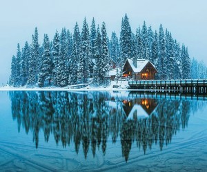 canada, snow, and travel image