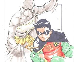 DC, robin, and black bat image