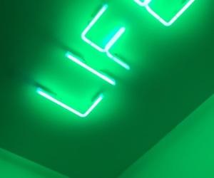green, life, and néon image