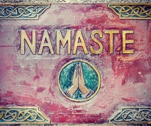 namaste and peace image