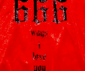 666, red, and evil image