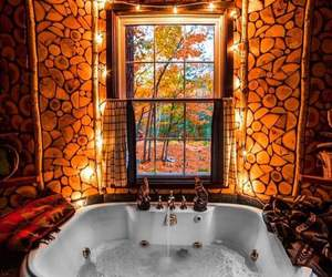 autumn, bathroom, and fall image