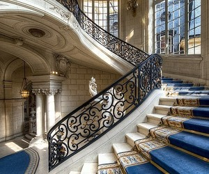 architecture, staircase, and stairs image