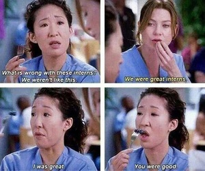 meredith grey, grey's anatomy, and christina yang image