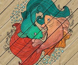 animals, art, and fish image
