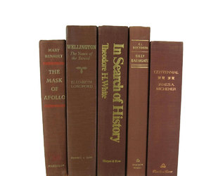 brown, old books, and book bundles image