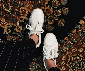 carpet, shoes, and white shoes image