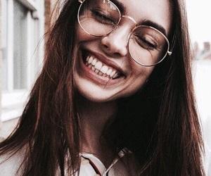 girl, glasses, and smile image