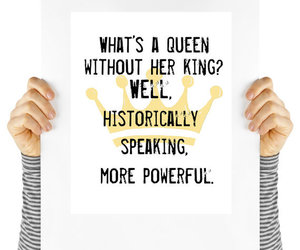 crown, feminism, and motivational poster image