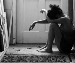girl, sad, and alone image