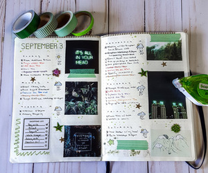 planner, diary, and bullet image