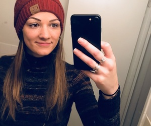 beanie, eyebrows, and ootd image