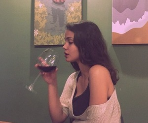 girl, style, and wine image