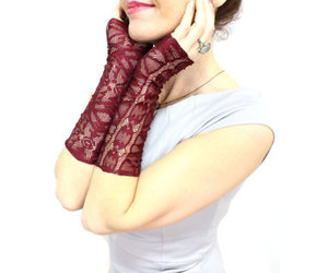 christmas, lace gloves, and etsy image