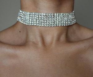 bling, choker, and diamonds image