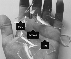 broke, hands, and pain image