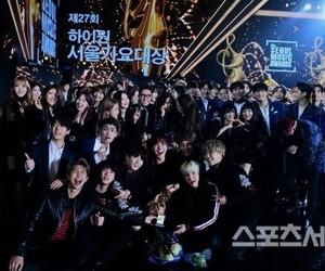 bts, red velvet, and seoul music awards image