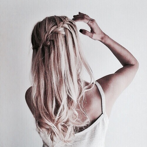 blonde, hair, and trenza image