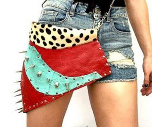 spiked leather purse and punk rock purse image