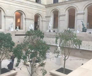 art, louvre, and white image
