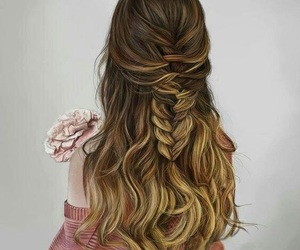 aesthetic, braids, and hair goals image
