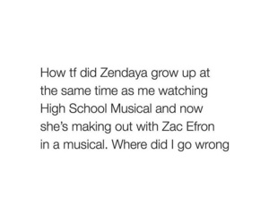 high school musical, zac efron, and zendaya image