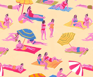 beach, summer, and patterns image