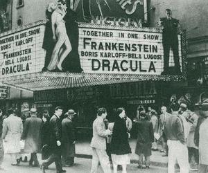 Dracula, vintage, and Frankenstein image