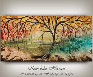 Abstract Painting, landscape art, and modern art image