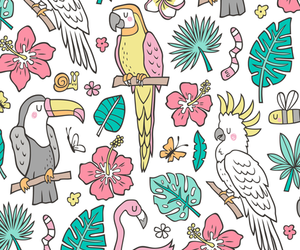 animal, birds, and floral image
