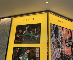 gucci, yellow, and theme image