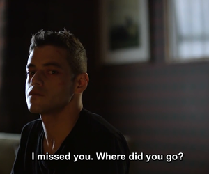 rami malek, mr. robot, and elliot alderson image
