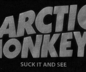 arctic monkeys, band, and b&w image