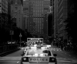 police, car, and city image