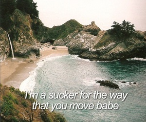 beach, Lyrics, and nature image