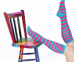 bright colors, chair, and colorful image