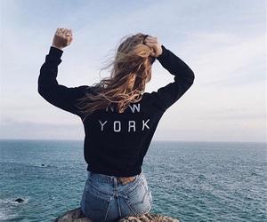 girl, hair, and new york image