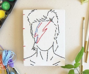art, colors, and david bowie image