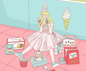 food, snack, and ice creams image