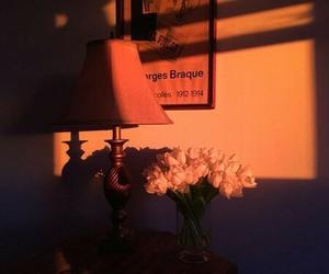 aesthetic, orange, and flowers image
